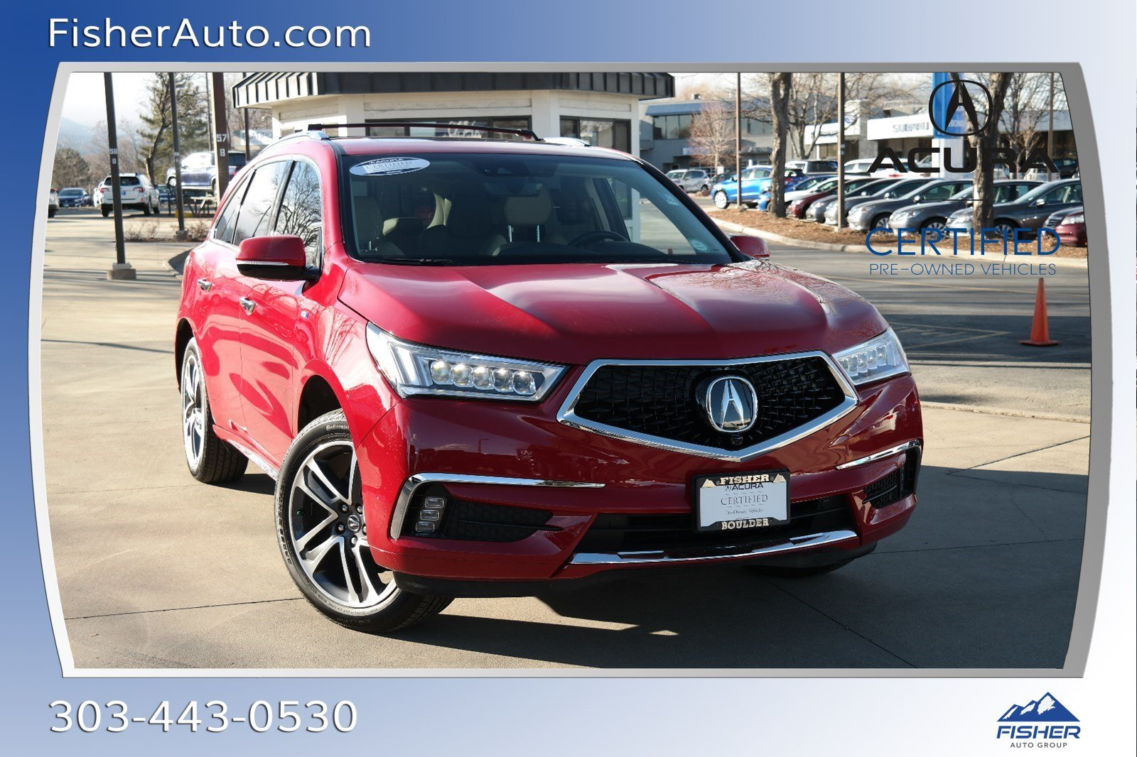 Certified Pre-Owned 2018 Acura MDX SH-AWD Sport Hybrid w/Advance Pkg