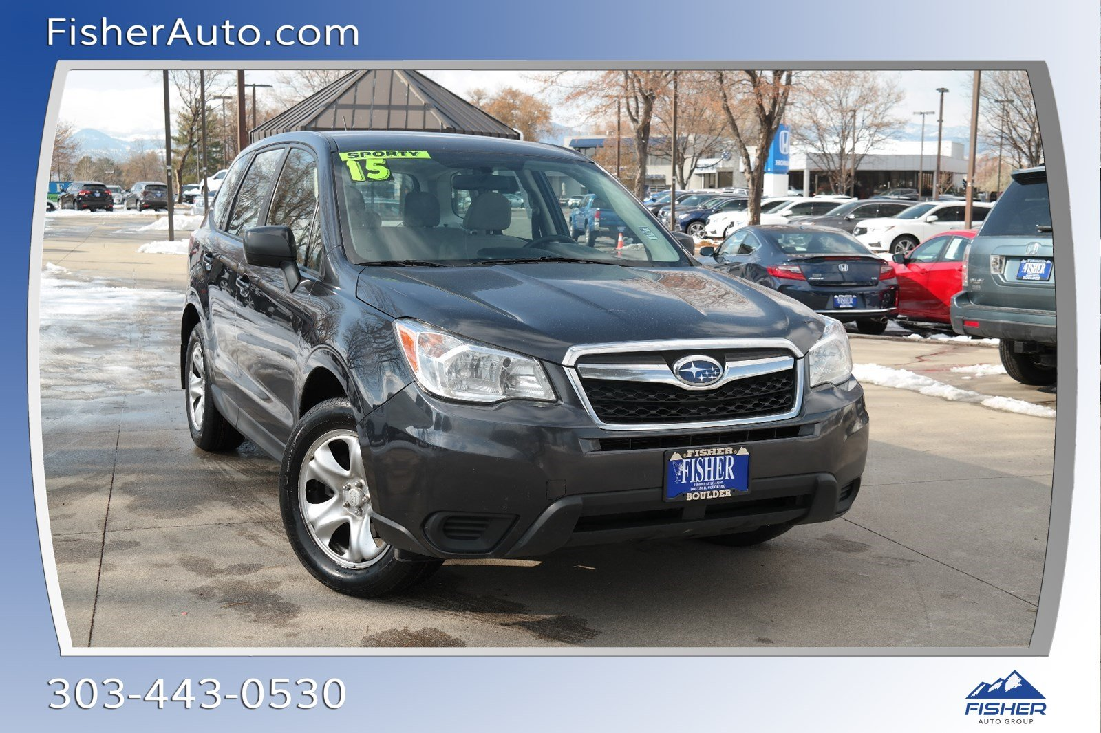 Pre-Owned 2015 Subaru Forester 4dr Man 2.5i PZEV