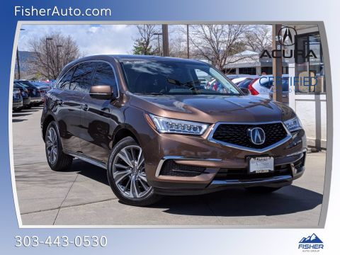 Certified Pre-Owned 2019 Acura MDX SH-AWD w/Technology/Entertainment P